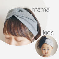 Mama & Kids T-shirt turban  set