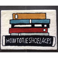 "STOMACHACHE. x Pacifica Collectives ""How To Tie Shoelaces Rug"""