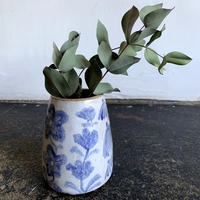 Michelle Blade - Ceramics Large Painted Bud Vase -