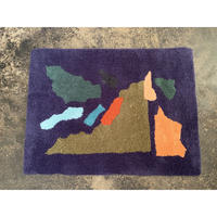 "Sandy Yang x Pacifica Collectives ""collage"" Rug (Blue)"