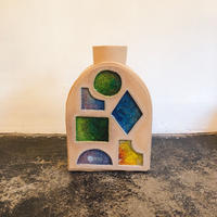 Morgan Peck Melted Doorway Stained Glass Vase B