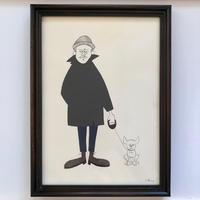 """Yusuke Hanai Original Paint """"Dog"""""""