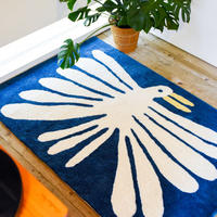 "Nathaniel Russell x PacificaCollectives ""Big White Bird"" Living Rug"