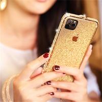 iPhone ケース バンパー おしゃれ 可愛い キラキラ かわいい お洒落 きらきら ゴールド