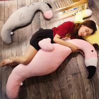 フラミンゴ  キリン 抱き枕   もちふわクッション  編みぐるみ  100cm