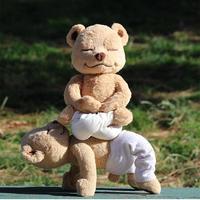 ヨガベア ヨガクマ ぬいぐるみ  編みぐるみ 40cm