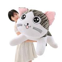 ネコ ぬいぐるみ  編みぐるみ  抱き枕  もちふわクッション 60cm