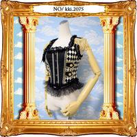 kki.2075 ダイヤチェックの鼓笛隊ビスチェ。