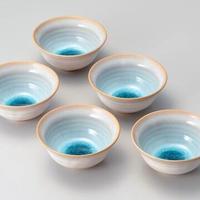 天龍窯ガラス釉 ソライロ小鉢(萩焼)