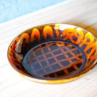 風唄窯 スリップウェア 深皿 直径20cm 高さ3.5cm