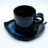 秀山窯 木の葉 デミタスカップ&ソーサー
