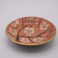 和紙焼 桜のお皿  (桃色)