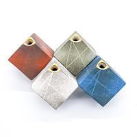 花器 サイコロ ストライプ(S)  ブルー 信楽焼/満山窯