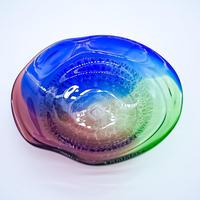 琉球稲嶺ガラス 中深皿