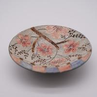和紙焼 桜のお皿(白)