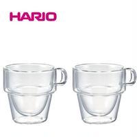 『HARIO』ダブルウォールスタックカップ2個セット DWS-3512  HARIO(ハリオ)