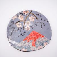 和紙焼 桜と富士山