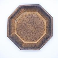 中川雅佳 金釉 八角形皿