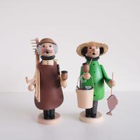 kuhnert Doll incense burner 農夫/釣り人
