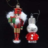 Ornament Nutcracker Red/Miffy Santa