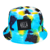 NEW RUBBER BOX LOGO  TIE-DYE BUCKET HAT C