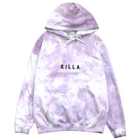 NEW ESSENTIAL BOX LOGO HOODIE TIE-DYE PURPLE