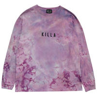 NEW ESSENTIAL BOX LOGO L/S TEE TIE DYE PURPLE
