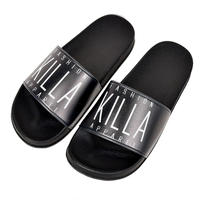 NEW ESSENTIAL LOGO SLIDER SANDALS BLACK