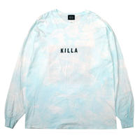 NEW ESSENTIAL BOX LOGO S/S TEE TIE DYE LIGHT BLUE