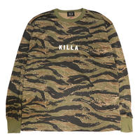 NEW ESSENTIAL BOX LOGO L/S TEE TIGER CAMO