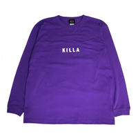 NEW ESSENTIAL BOX LOGO L/S TEE PURPLE/WHITE
