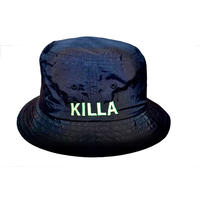 KILLA EMBROIDERY BUCKET HAT LIME GREEN