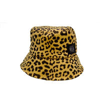 BOX LOGO LEOPARD BUCKET HAT