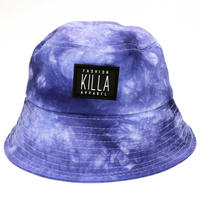 RUBBER BOX LOGO  TIE-DYE BUCKET HAT PURPLE
