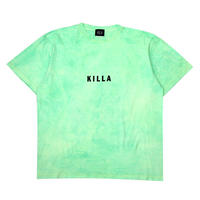 NEW ESSENTIAL BOX LOGO S/S TEE TIE DYE LIME GREEN