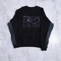 200201刺繍トレーナー (黒)