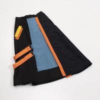 210120ロング切り替えスカート(オレンジ)