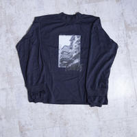 200204モックネックプリントTシャツ(ダークネイビー)