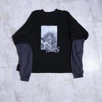 200205レイヤースリーブTシャツ(黒)