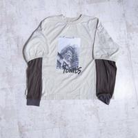 200205レイヤースリーブTシャツ(ベージュ)