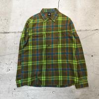 ⦅stussy⦆L/S コットンフランネルシャツ