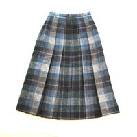 ENGLAND Wool Check Pleats Skirt