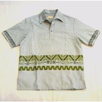 70s ''TIKI'' Pull-Over Hawaiian Shirt