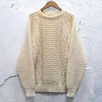 fisherman pullover knit sweater