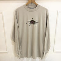 【OLD STUSSY】 80s dead stock L/S tee