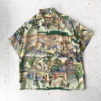 50s 和柄 ハワイアンシャツ