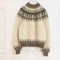 hi neck nordic sweater