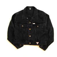 90s 【GUESS】BLACK Denim Jacket