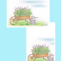 メッセージカード【花とジョウロ】