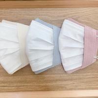 不織布マスク用マスクカバー(播州織両面コットンシルク)3カラー